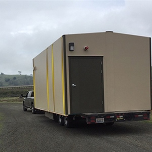 DuraFiber buildings can be transported by truck.
