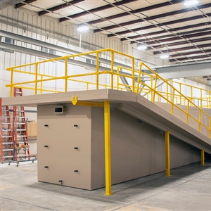 DuraFiber rectangular composite tanks can be equipped with safety railings and other options