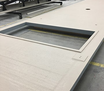 DuraFiber composite covers can be equipped with access hatches.